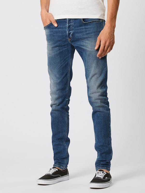 DIESEL Jeans 'SLEENKER-X' in blue denim: Frontalansicht
