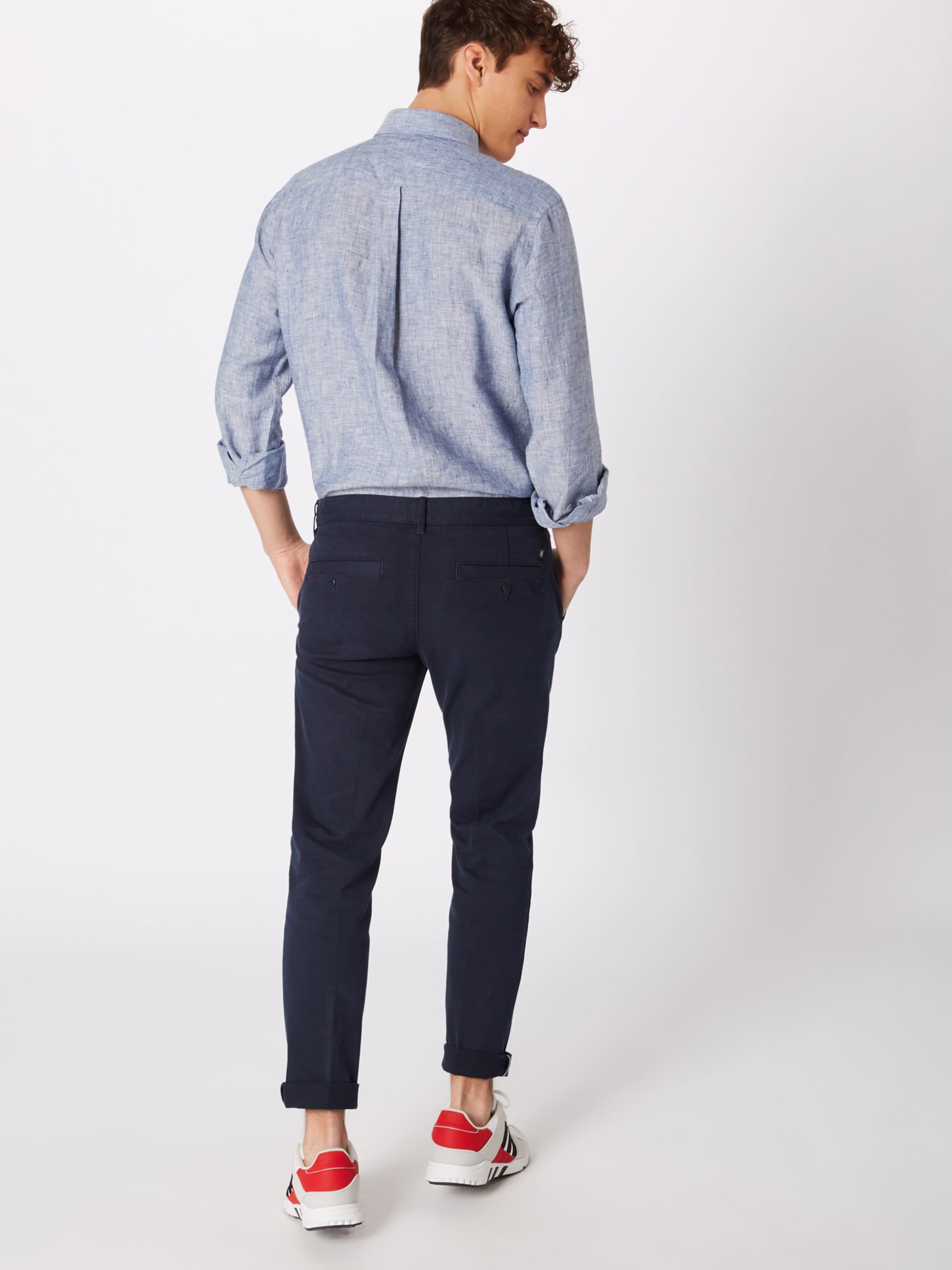 Pants' In Dunkelblau Marc 'woven O'polo Chinohose 7fgyvbY6