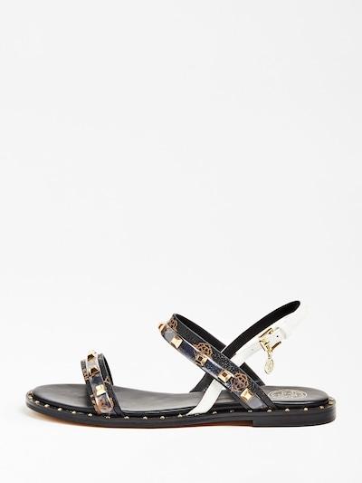 Sandale cu baretă 'Ofelia' GUESS pe bronz / negru / alb, Vizualizare produs