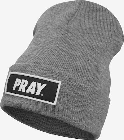 Megzta kepurė 'Pray' iš Urban Classics , spalva - margai pilka / juoda / balta, Prekių apžvalga