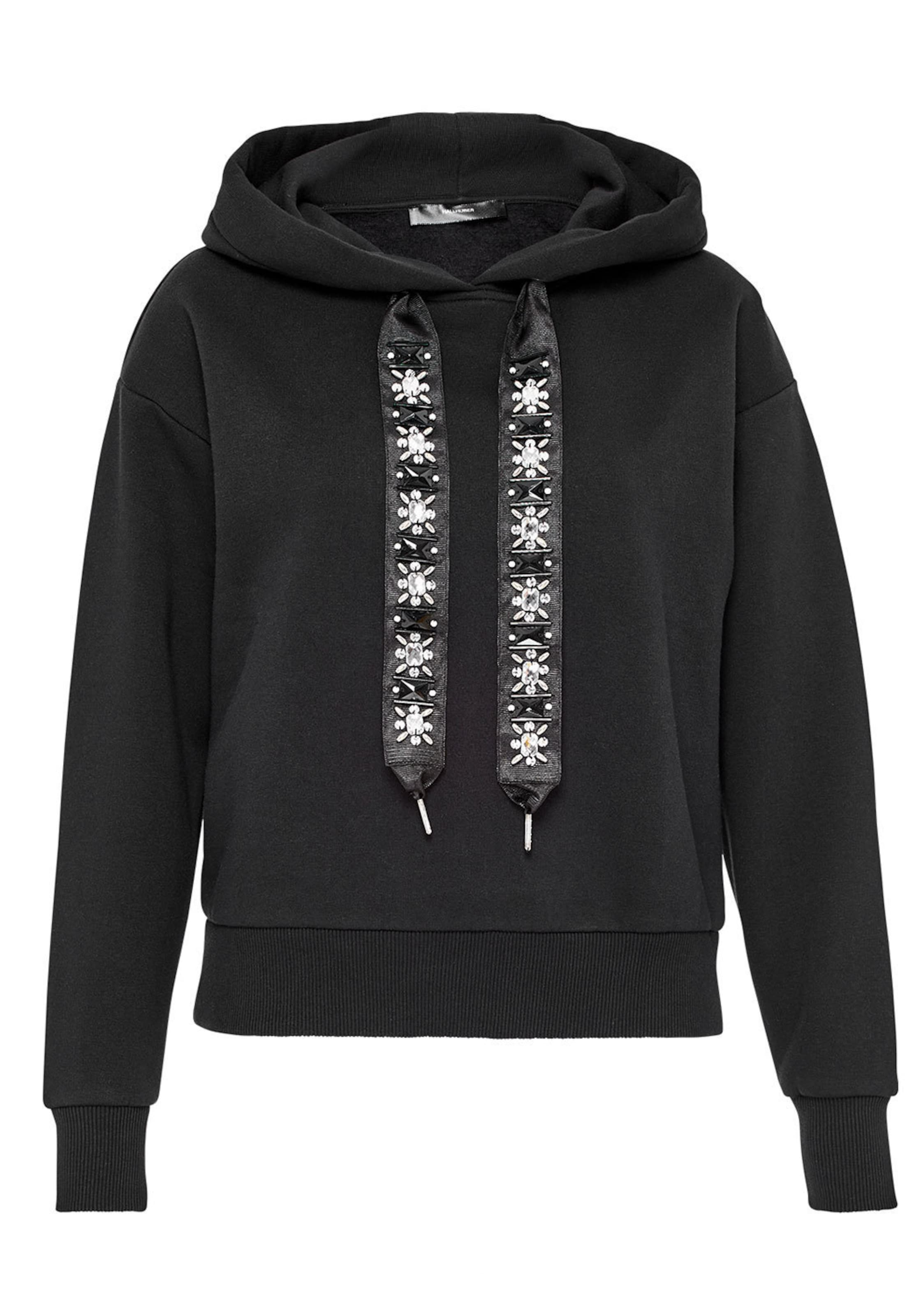 HALLHUBER Kurzes Sweatshirt mit Strassband Großer Verkauf Online Spielraum Online Ebay Verkauf Günstiger Preis lZuvNBe