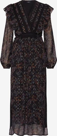 OBJECT Jurk 'OBJMILO LONG DRESS' in de kleur Zwart: Vooraanzicht