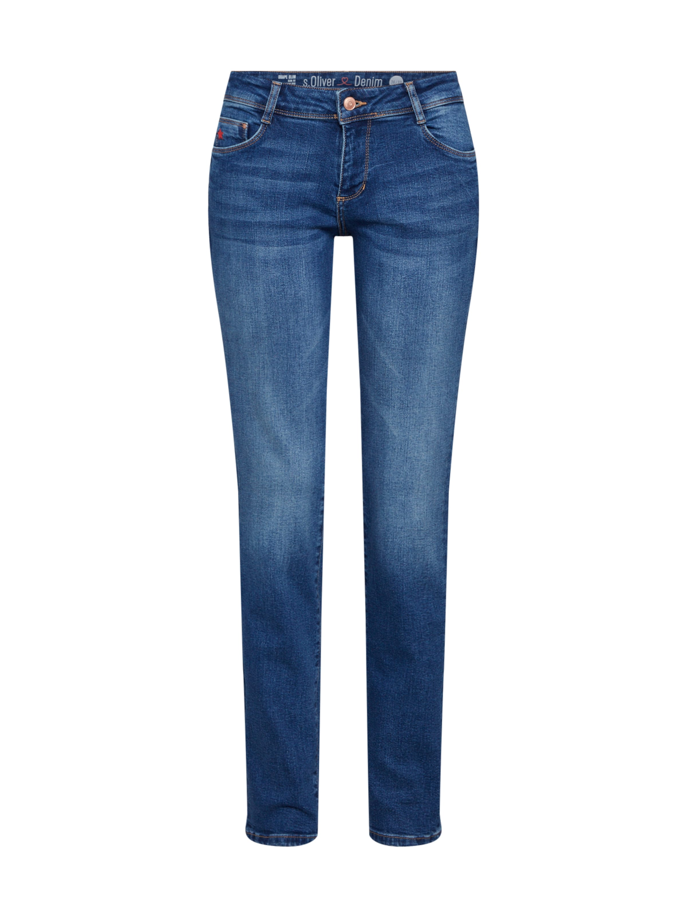 Red Jeans Slim' 'shape oliver Label S Blue Denim In K1TFc3ulJ