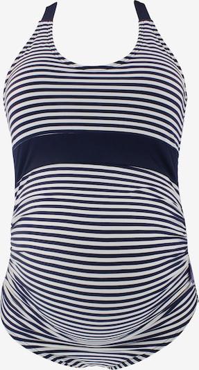 petit amour Badeanzug 'Anya' in navy / weiß, Produktansicht