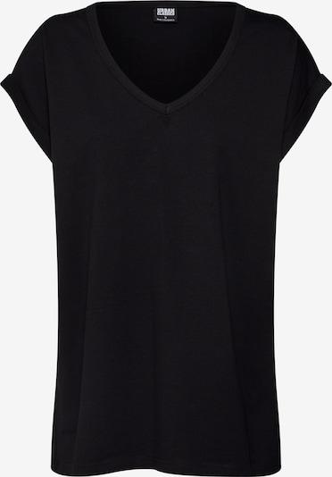 Urban Classics T-shirt 'Ladies' en noir: Vue de face