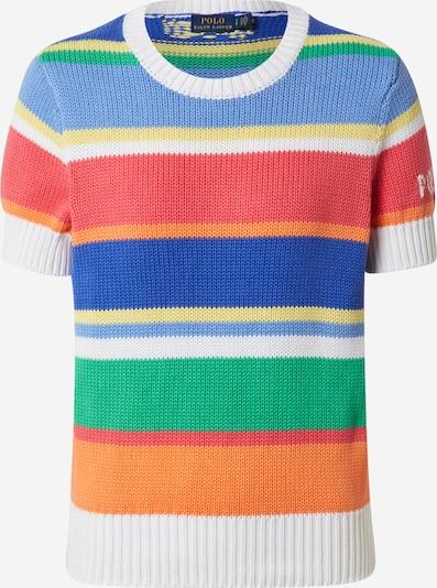 POLO RALPH LAUREN Pulover | modra / zelena / rdeča barva, Prikaz izdelka
