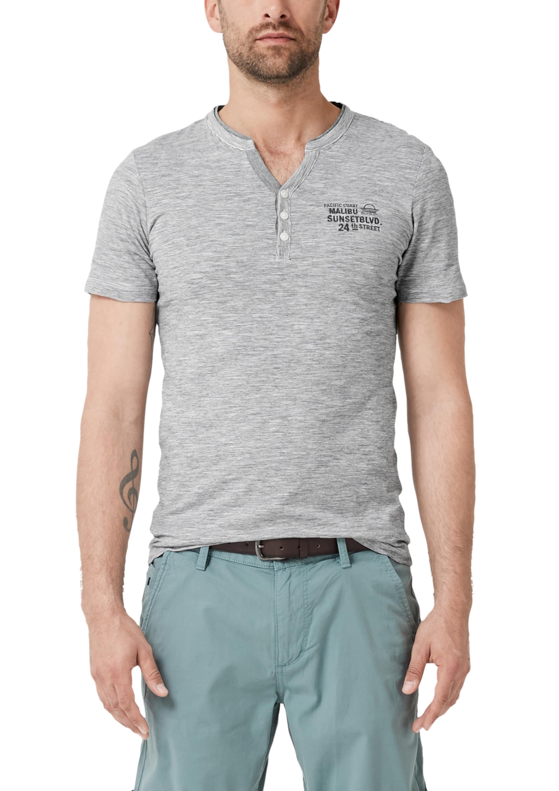 S Shirt GrauWeiß oliver In GrauWeiß In S oliver Shirt WD9HI2E