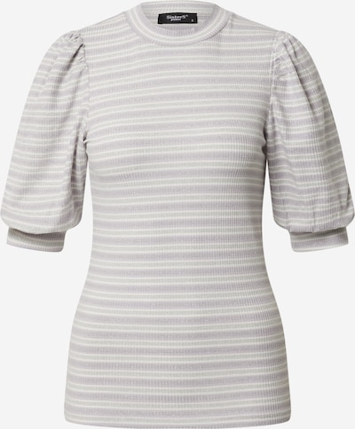 SISTERS POINT Shirt 'PANY-SS' in lila / offwhite, Produktansicht