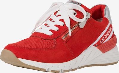 MARCO TOZZI Sneaker in hellrot / weiß, Produktansicht