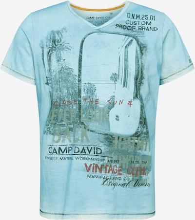 CAMP DAVID Tričko - svetlomodrá / zmiešané farby: Pohľad spredu