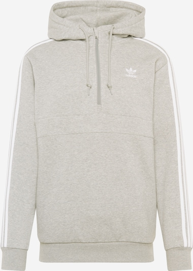 ADIDAS ORIGINALS Sweat-shirt en gris chiné / blanc: Vue de face