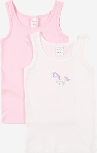 SCHIESSER Unterhemd in rosa / weiß, Produktansicht