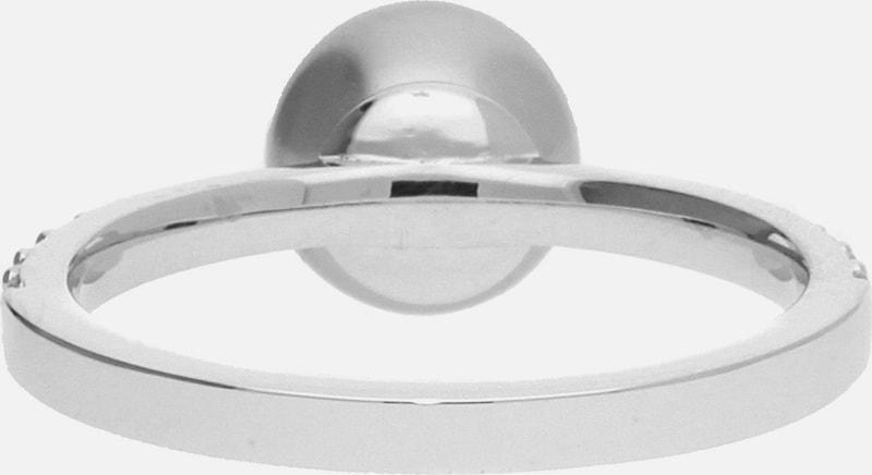 ESPRIT Damen Fingerring 925 Silber Silber-Grau Brilliance Pearl ESRG92315B