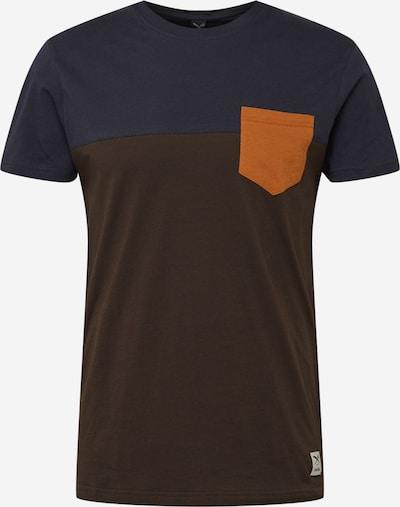 Iriedaily T-Shirt in blau / schoko, Produktansicht
