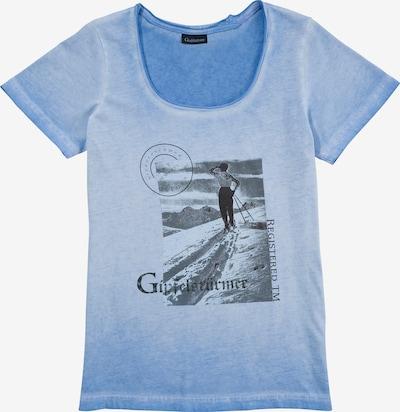 OS-TRACHTEN Shirt in rauchblau / schwarz, Produktansicht