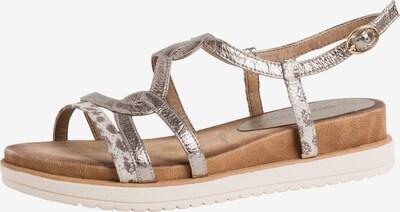 TAMARIS Sandale in hellbraun / silber / weiß, Produktansicht