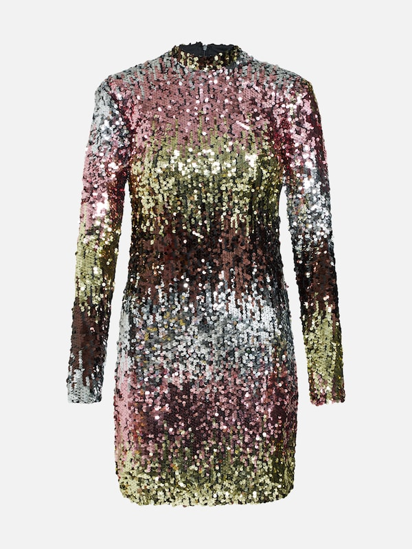 d1f60a9fa4 NEW LOOK Sukienka  GO OMBRE SEQUIN LS BCON  w kolorze złoty   różowy    srebrnym