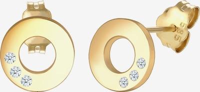 Diamore Ohrringe in gold / transparent, Produktansicht