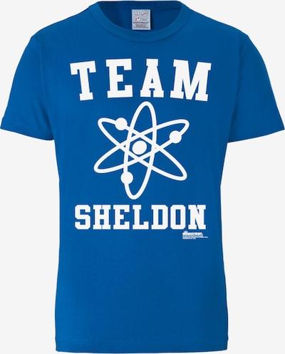 LOGOSHIRT T-Shirt in blau / weiß, Produktansicht