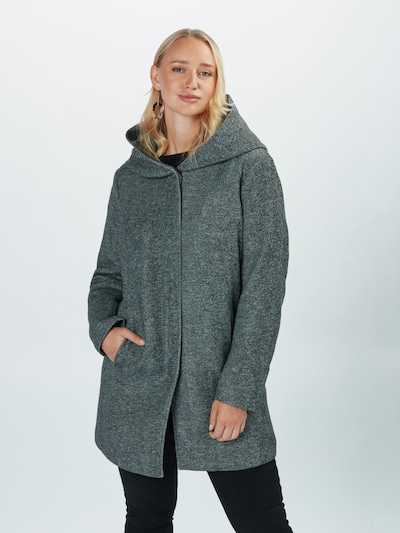 ONLY Carmakoma Mantel in graumeliert, Modelansicht