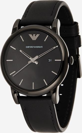 Emporio Armani Uhr in dunkelgrau / schwarz, Produktansicht