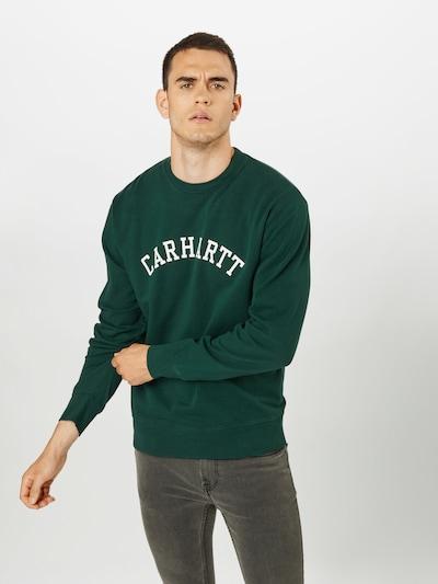 sötétzöld / fehér Carhartt WIP Tréning póló: Elölnézet