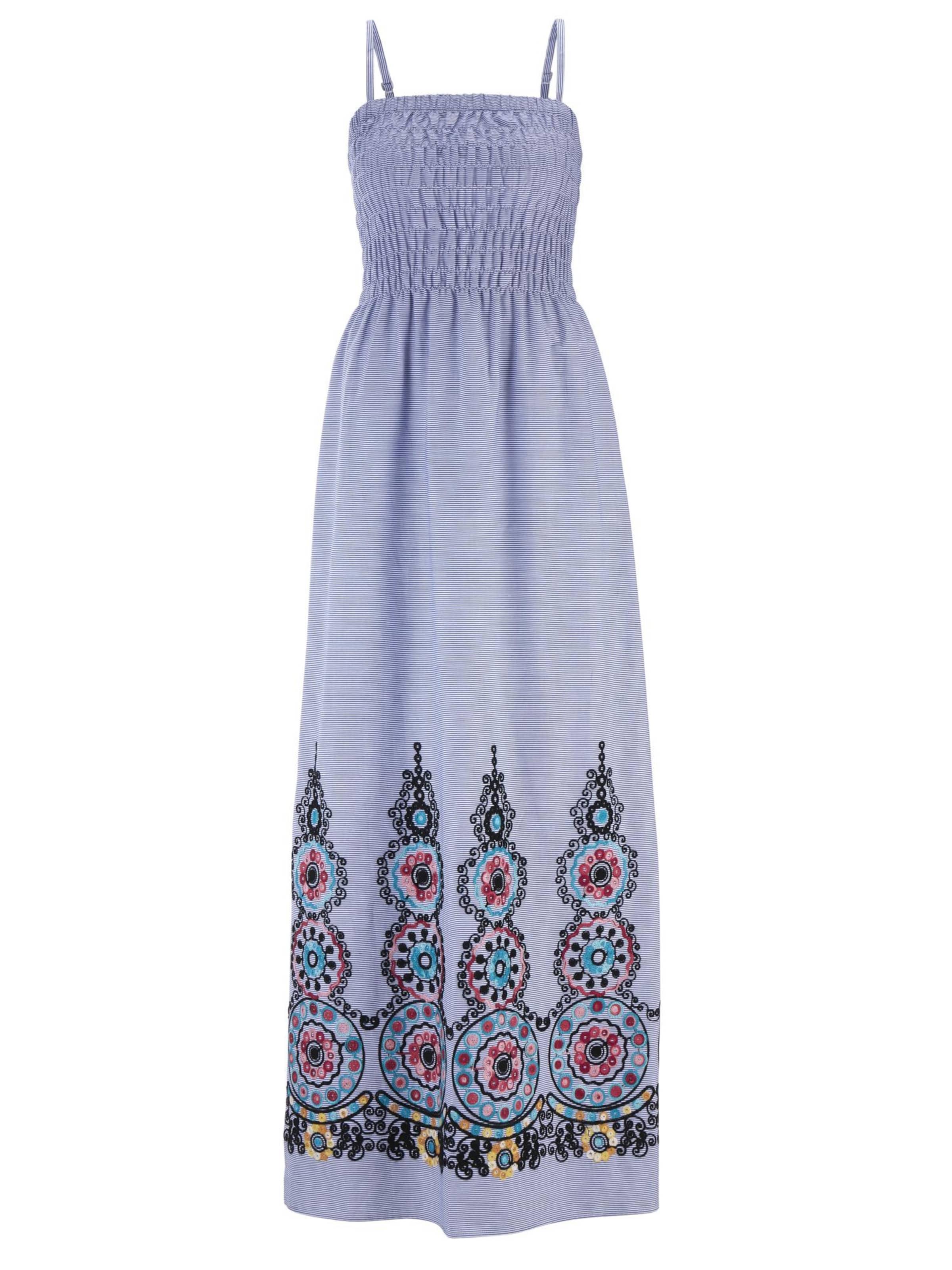 Heine Kleid Kleid In TaubenblauMischfarben Weiß Heine dBrxWQCoe