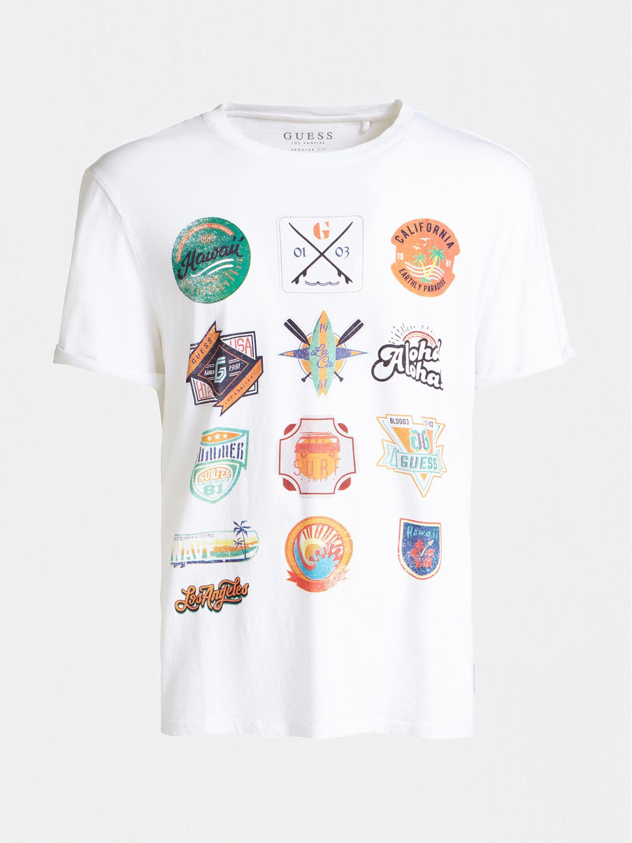 In Guess T shirt Guess shirt MischfarbenWeiß T BErCxQoedW