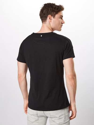 Key Largo T-Shirt 'MT SPEAKER round' in schwarz / weiß: Rückansicht