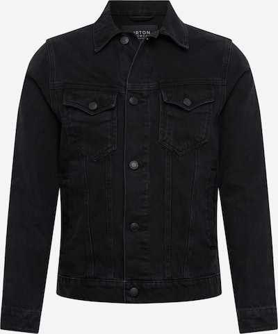 BURTON MENSWEAR LONDON Tussenjas 'BLACK DENIM  JACKET' in de kleur Zwart, Productweergave