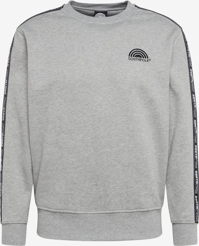 SOUTHPOLE Bluzka sportowa w kolorze jasnoszary / czarnym, Podgląd produktu