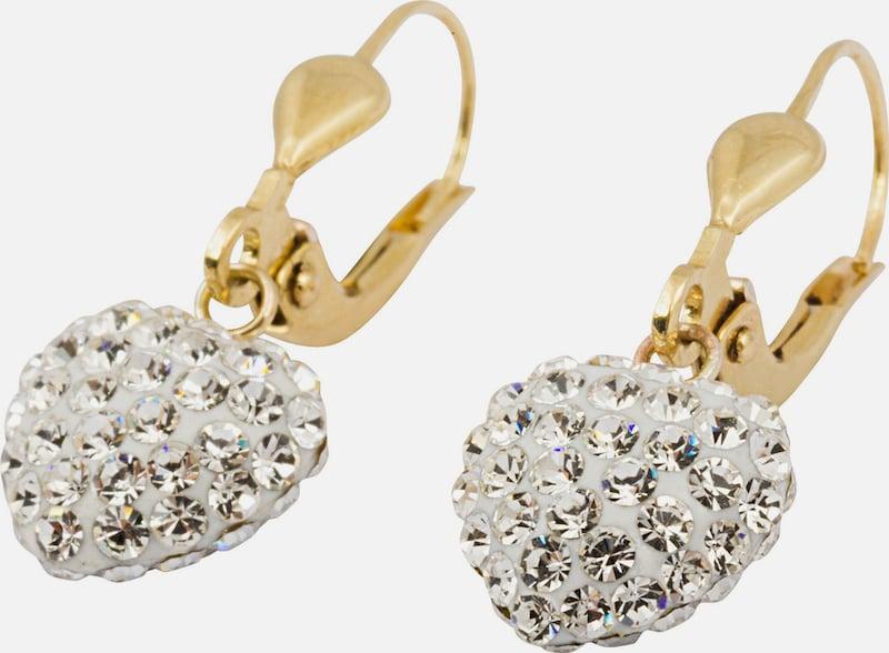 FIRETTI Ohrhänger mit Kristallen »Herz«