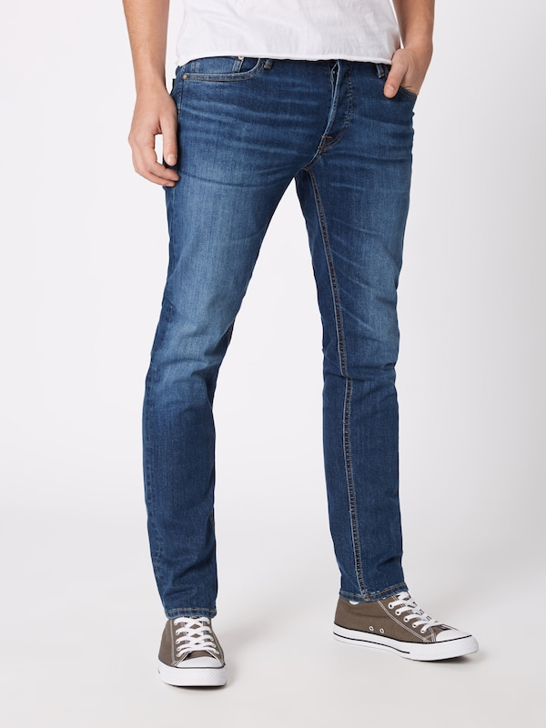 JACK & JONES Jeans 'Glenn Original AM 814 Noos' in blue denim: Frontalansicht