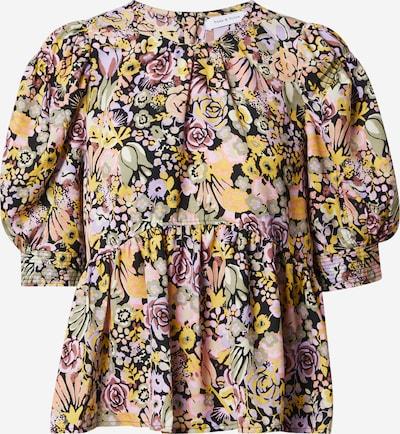 ONLY Majica 'Fave' | rumena / mešane barve / črna barva: Frontalni pogled