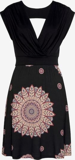 BEACH TIME Strandkleid in dunkelrot / schwarz, Produktansicht