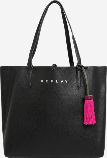REPLAY Shopper in pink / schwarz, Produktansicht