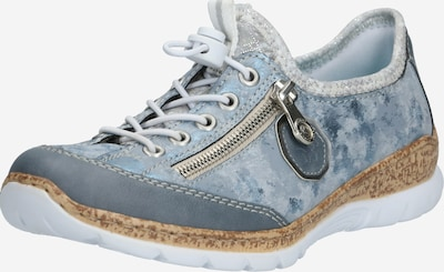 RIEKER Sneaker in taubenblau / blaumeliert / taupe, Produktansicht