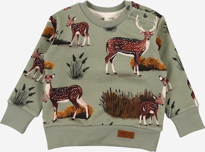 Walkiddy Sweatshirt in beige / dunkelbraun / khaki / mischfarben / weinrot, Produktansicht