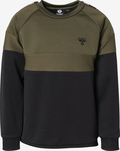 Hummel Sweatshirt 'Kane' in oliv / schwarz: Frontalansicht