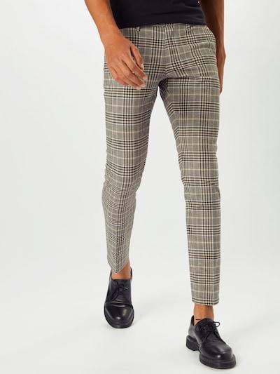 DRYKORN Chino nohavice - béžová / hnedá / čierna: Pohľad spredu