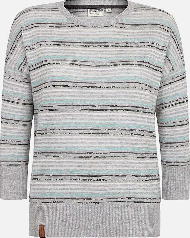 naketano Pullover 'Streets of South Jamaica' in grau / mint, Produktansicht