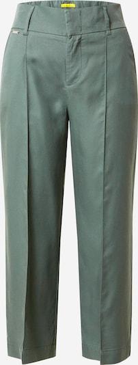 STREET ONE Spodnie 'LTD QR Emee Wide Leg' w kolorze ciemnozielonym: Widok z przodu