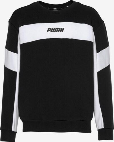 PUMA Sweatshirt 'Rebel Crew' in schwarz / weiß, Produktansicht