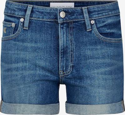 Calvin Klein Jeans Mid Rise Denim Shorts in blue denim, Produktansicht