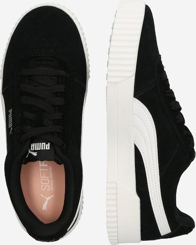 PUMA Baskets basses 'Carina' en noir / blanc: Vue de profil