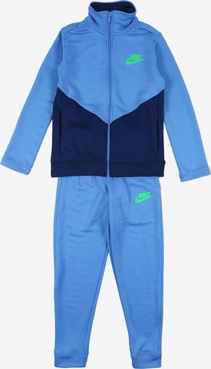Nike Sportswear Zweiteiler 'B NSW CORE TRK STE PLY FUTURA' in blau / schwarz, Produktansicht