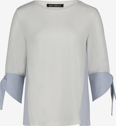 Betty Barclay Sweatshirt mit Webbesatz in creme / hellblau, Produktansicht