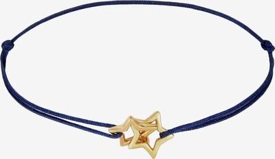 ELLI Armband Sterne, Textil-Armband in blau / gold, Produktansicht