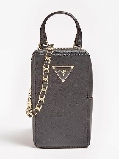 GUESS Schlüsselanhänger 'Charm Täschchen' in gold / schwarz, Produktansicht