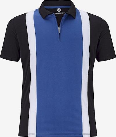 Jan Vanderstorm Poloshirt in blau / schwarz / weiß, Produktansicht